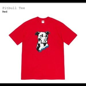 Supreme red pit bull tee